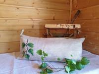 Sanna-saunatyyny Pellava kalanruoto Koivunoksa Pellava-valkoinen