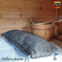 Sanna-saunatyyny Pellava kalanruoto Pellava-musta