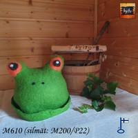 Satu-saunahattu Paljusammakko Kevää vihreä -oranssi silmä L