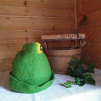 Satu-saunahattu Paljusammakko Kevään vihreä - keltasilmä L