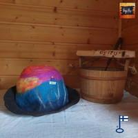 Satu-saunahattu Naisten saunavuoro Maisema auringonlasku 09-2020 - M