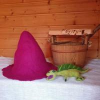 Satu-saunahattu Anoppi saunoo - Yksivärinen - valmistetaan tilauk