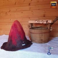 Satu-saunahattu Anoppi saunoo - Moniväri tai kuvioitu - valm. tilaukse