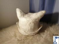 Sauli-saunahattu Alpakanvillasta - valmistetaan tilauksesta