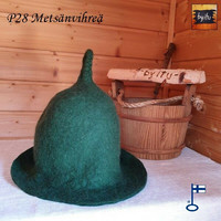 Satu-saunahattu Saunaperinne Metsänvihreä Pirtti M