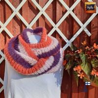 Tuukka-tuubihuivi Oranssi, vaaleanpuna, liila