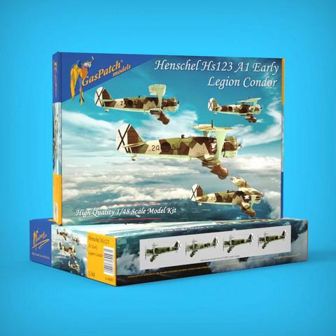 GasPatch Models 1/48 Henschel Hs 123 A1 Early, Legion Condor