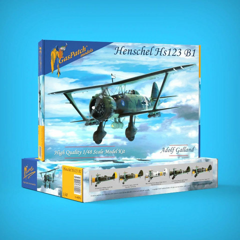 GasPatch Models 1/48 Henschel Hs 123 B1, Adolf Galland