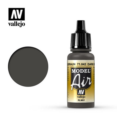 Vallejo Model Air 71.042 Dark Brown RLM61