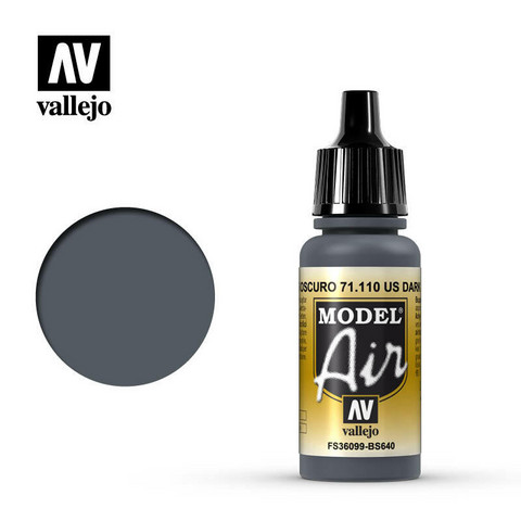Vallejo Model Air 71.110 Dark Grey