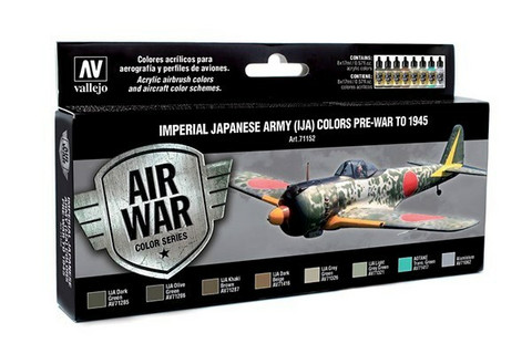 Vallejo Model Air 71.152 Imperial Japanese Army (IJA) colors pre-war to 1945 maalisetti 8x17ml