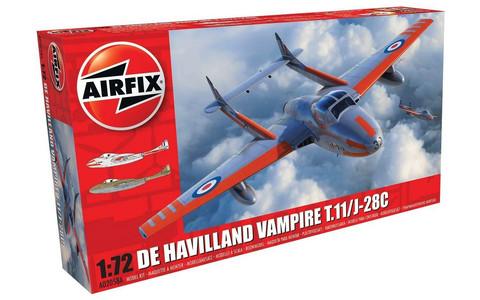 Airfix 1/72 DeHavilland Vampire T.11/J-28C