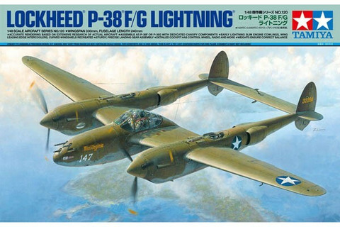 Tamiya 1/48 Lockheed P-38F/G Lightning