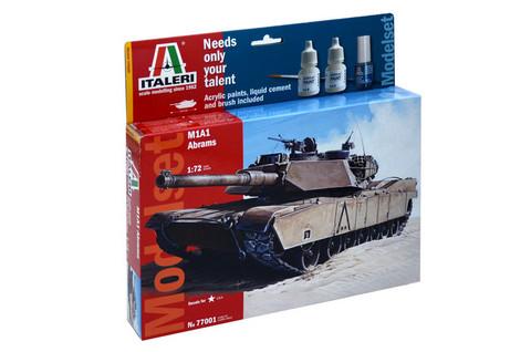 Italeri 1/72 M1A1 Abrams aloituspakkaus