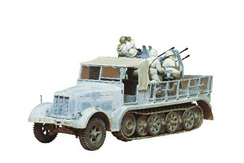Tamiya 1/35 German 8 ton Semitrack 20mm Flakvierling Sd.kfz7/1