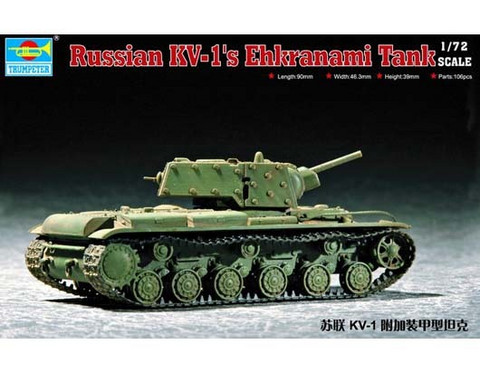 Trumpeter 1/72 Russian KV-1's Ehkranami Tank