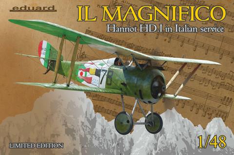 Eduard 1/48 IL MAGNIFICO Hanriot HD.I in Italian service