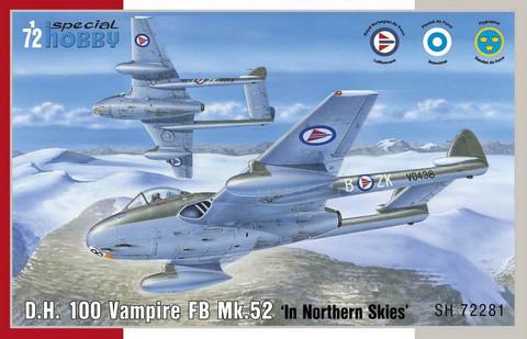 Special Hobby 1/72 DH 100 Vampire FB Mk.52 In Northern Skies