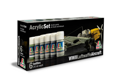 Italeri WWII Luftwaffe Aircraft maalisetti 6x20ml