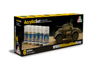 Italeri WWII Military Allied maalisetti 6x20ml