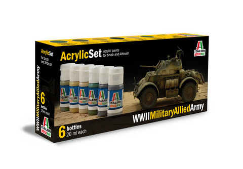 Italeri WWII Military Allied Army maalisetti 6x20ml