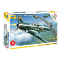 Zvezda 1/72 Yak-3 Soviet Fighter SNAP FIT