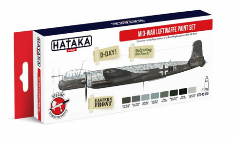 Hataka Red Line Mid-War Luftwaffe maalisetti 8x17ml