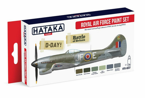 Hataka Red Line Royal Air Force maalisetti 6x17ml