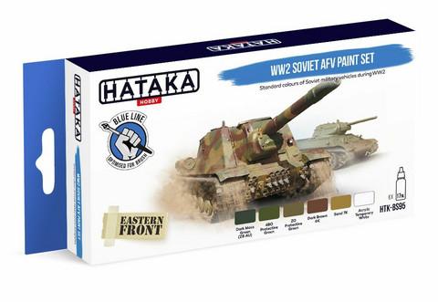 Hataka Blue Line WW2 Soviet AFV maalisetti 6x17ml