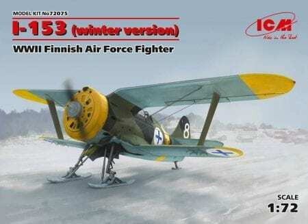 ICM 1/72 I-153 (winter version) WWII Finnish Air Force Fighter