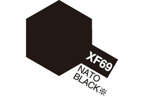 Tamiya Acrylic Mini XF69 NATO Black 10ml