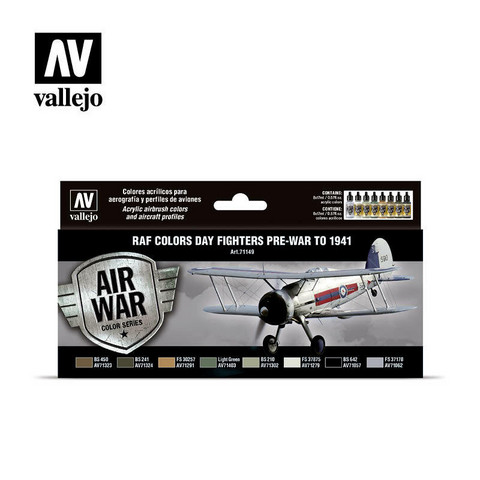Vallejo Model Air 71.149 RAF Colors Day Fighters Pre-war to 1941 maalisetti 8x17ml