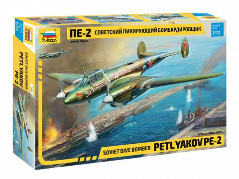 Zvezda 1/72 Petlyakov Pe-2 Soviet dive bomber