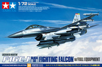Tamiya 1/72 Lockheed Martin F-16CJ [Block 50] Fighting Falcon w/Full Equipment