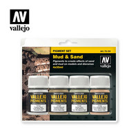 Vallejo Pigments 73.191 Mud & Sand pigmenttisetti 4x35ml