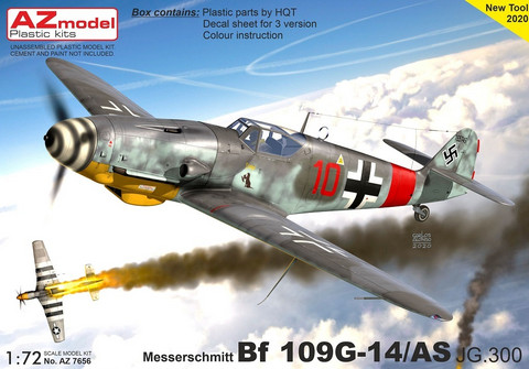 AZ 1/72 Messerchmitt Bf 109G-14/AS JG.300