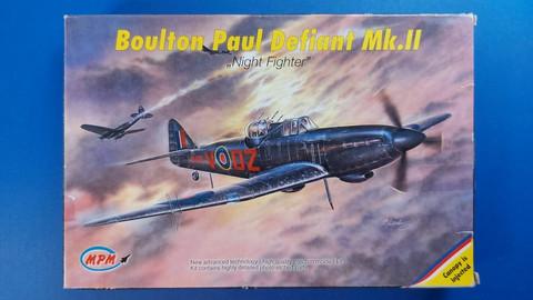 KÄYTETTY MPM 1/72 Boulton Paul Defiant Mk.II