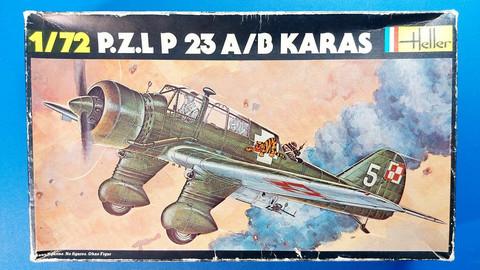 KÄYTETTY Heller 1/72 P.Z.L P 23A/B Karas