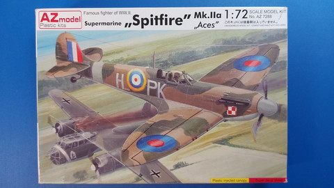 KÄYTETTY AZ model 1/72 Supermarine Spitfire Mk.IIa