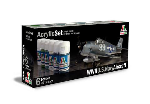 Italeri WWll U.S.Navy Aircraft maalisetti 6x20ml