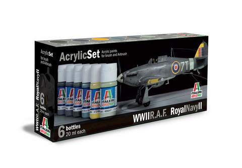 Italeri WWII R.A.F. Royal Navy II maalisetti 6x20ml