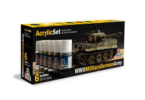 Italeri WWll Military German Army maalisetti 6x20ml