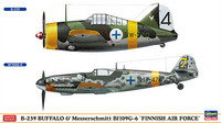Hasegawa 1/72 B-239 Buffalo & Messerschmitt Bf 109G-6 `Finnish Air Force`