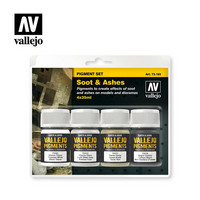 Vallejo Pigments 73.193 Soot & Ashes pigmenttisetti 4x35ml
