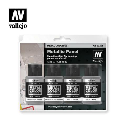 Vallejo Metal Color 77.601 Metallic Panel Set 4x32ml