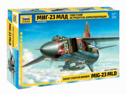 Zvezda 1/72 MIG-23MLD Soviet Fighter Bomber