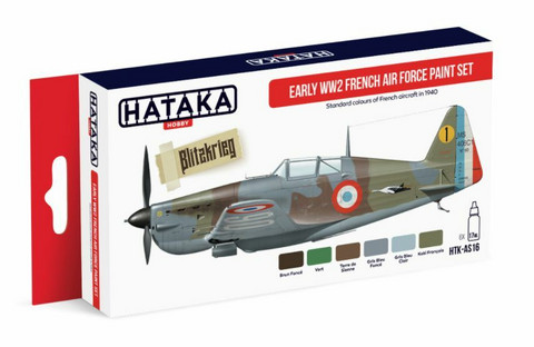 Hataka Red Line Early WW2 French Air Force maalisetti 6x17ml