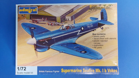 KÄYTETTY Admiral 1/72 Supermarine Seafire Mk.Ib Vokes