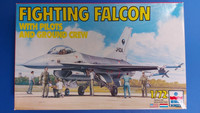 KÄYTETTY Esci 1/72 Fighting Falcon with pilots and ground crew