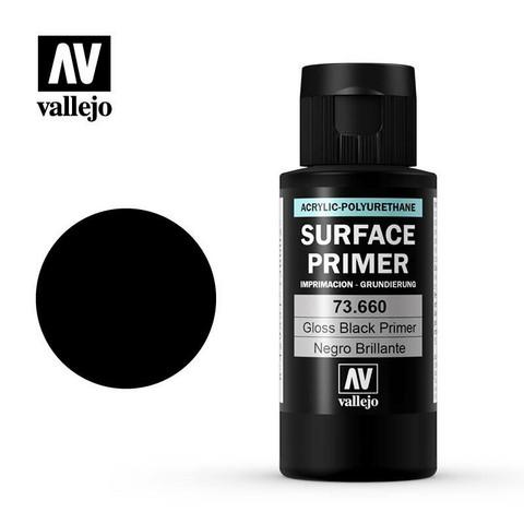 Vallejo Surface Primer 73.660 Gloss Black 60ml pohjamaali